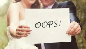 10-те основни грешки в сватбената организация