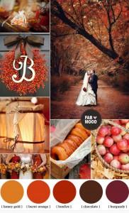 Цветове, подходящи за есенна свабта