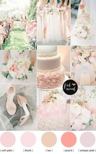 Сватба в пастелни цветове