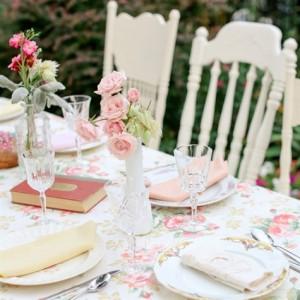 Цветна декорация на сватба в стил шаби шик