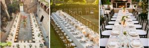 Дълги сватбени маси