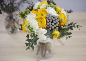 Сватбен букет в жълто